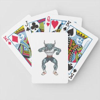 shot put bull bicycle playing cards