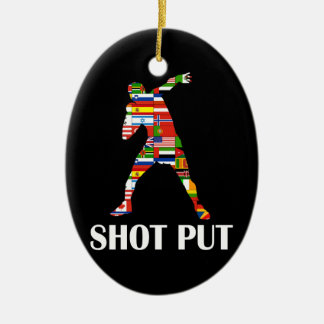 Shot Put Ceramic Ornament