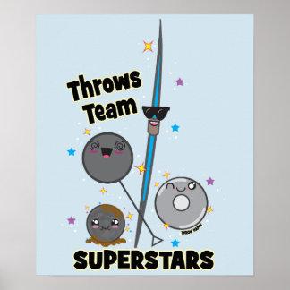 Shot Put Discus Hammer Javelin Throw Poster Gift