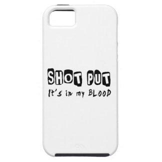 Shot Put It's in my blood iPhone 5 Covers