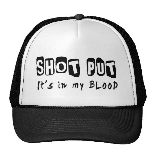 Shot Put It's in my blood Mesh Hat