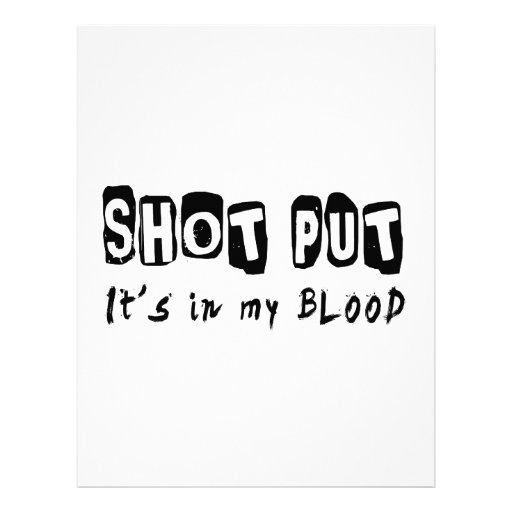 Shot Put It's in my blood Personalized Letterhead