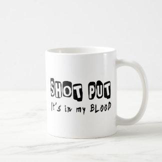 Shot Put It's in my blood Mug