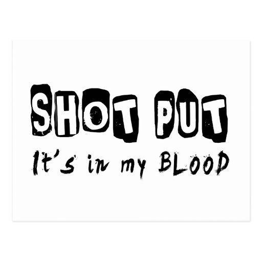 Shot Put It's in my blood Postcard
