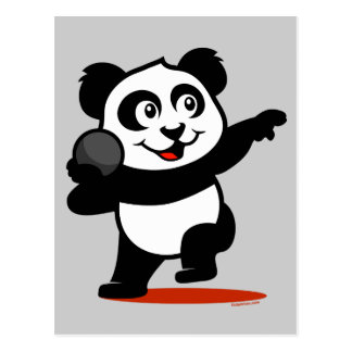 Shot Put Panda Postcard