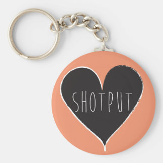 Shot Put Throw Track and Field Keychain
