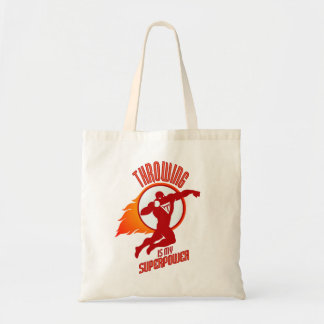 shot putting is my superpower tote bag