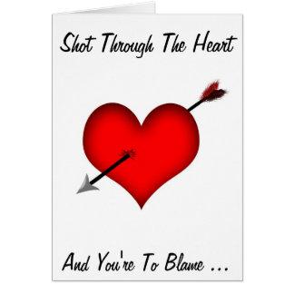 Shot Through The Heart! - Designer Romance Card