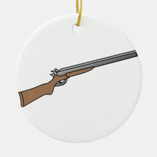Shotgun Ceramic Ornament