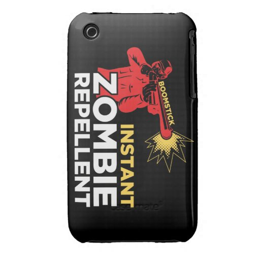Shotgun Instant Zombie Repellent Retro iPhone Case iPhone 3 Covers