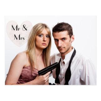 Shotgun Wedding  Elopement Humorous Announcements Postcard