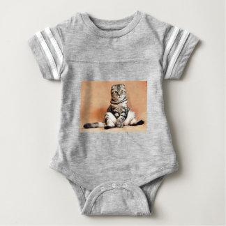 Shotlanskogo Fold Cat Kitten Pets British Cat Baby Bodysuit