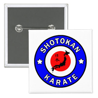 Shotokan Karate 2 Inch Square Button