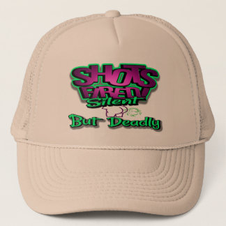 Shots fired silent but deadly truckers hat