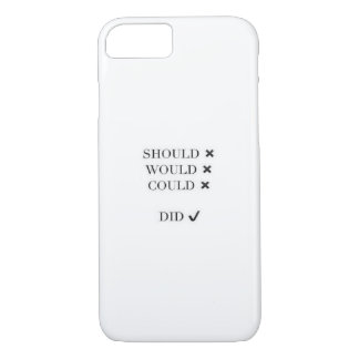 Should would could did iPhone 7 case