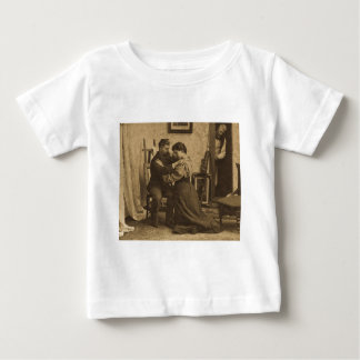 Shoulder Arms Antique Grayscale Vintage Stereoview T-shirts