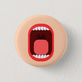 Shout 1 Inch Round Button