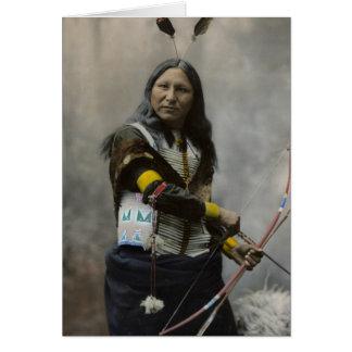 Shout At, Oglala Sioux, 1899 Card