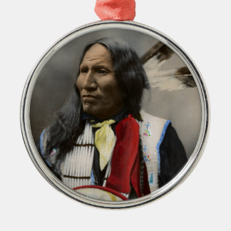 Shout At Oglala Sioux 1899 Indian Vintage Metal Ornament