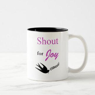 Shout For Joy 11oz Two-Tone Coffee Mug
