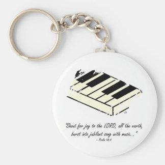 """Shout for Joy - Piano"" Keychain"