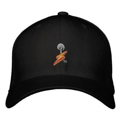SHOUTcast Hat (Black) Embroidered Baseball Cap