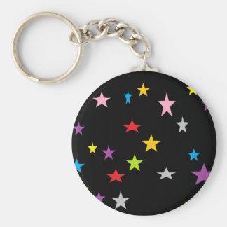shouting stars basic round button keychain
