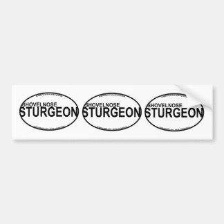Shovelnose Sturgeon Euro Stickers
