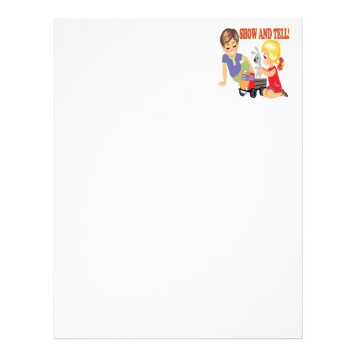 Show And Tell 3 Letterhead Template