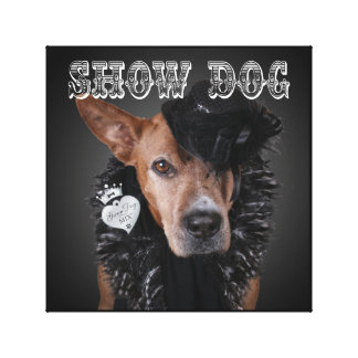 """Show Dog"" - Canvas Wall Art Print"
