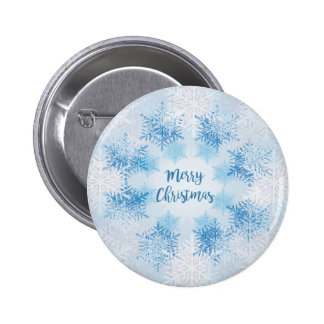 SHOW FLAKES PATTERN Merry Christmas 2 Inch Round Button