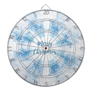 SHOW FLAKES PATTERN Merry Christmas Dartboards