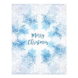 SHOW FLAKES PATTERN Merry Christmas Letterhead