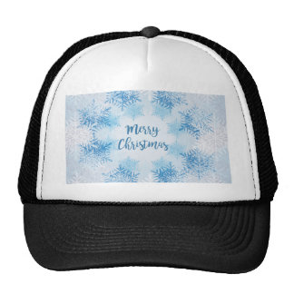 SHOW FLAKES PATTERN Merry Christmas Trucker Hat