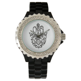 Show hand of fatima wrist watch