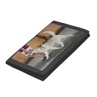 Show Husky Black TriFold Nylon Wallet