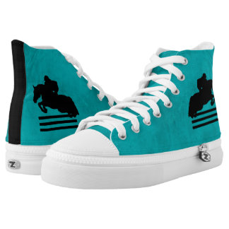 Show Jumper Silhouette for Horse Lovers High Tops