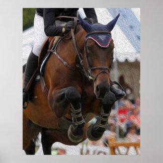 Show Jumping-Equestrian Art Poster