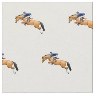 Show Jumping Horse Equestrian Fabric