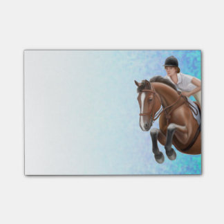 Show Jumping Horse Equestrian Post-it Notes