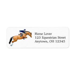 Show Jumping Horse Label Return Address Label