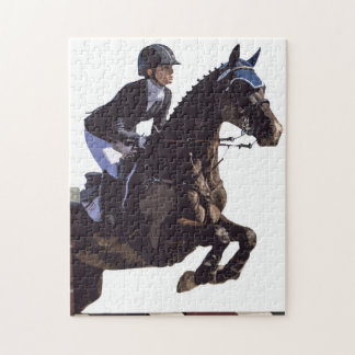 Show Jumping Jigsaw Puzzle