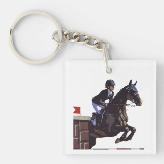 Show Jumping Keychain