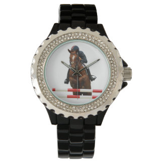 Show Jumping Rhinestone Watch