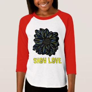 """Show Love"" Girls' 3/4 Raglan T-Shirt"