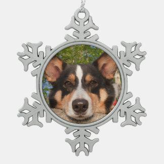Show Me Sad Snowflake Pewter Christmas Ornament