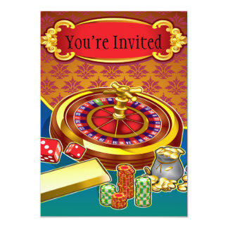 "Show Me The Money Gambler 5"" X 7"" Invitation Card"