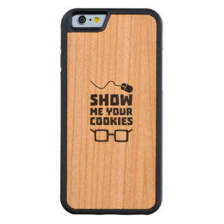 Show me your Cookies Geek Zb975 Carved Cherry iPhone 6 Bumper Case