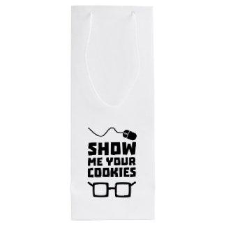 Show me your Cookies Geek Zb975 Wine Gift Bag
