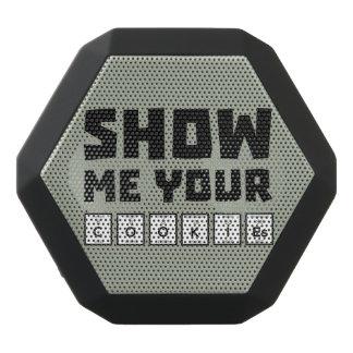 Show me your cookies nerd Zh454 Black Bluetooth Speaker